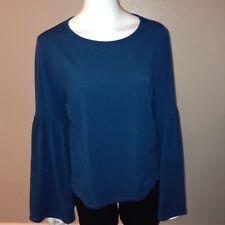 Ava & Viv Knit Tee Plus Size X Womens Shirt Top Bell Sleeve Teal Blue XL 1X