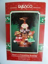 Enesco Treasury of Christmas There'S A Friendship Brewing Ornament 1996 Nib
