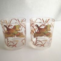 "Vintage Pheasant Tumbler Cup Plastic Resin 4"" Tall Brown Gold Bird Design"
