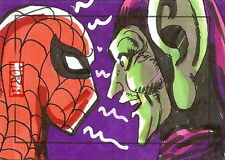 Marvel Heroes & Villains Sketch Card of Spiderman + Goblin - Rittenhouse