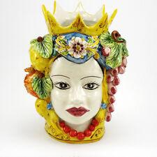Testa Ceramica Siciliana di Caltagirone Donna Media