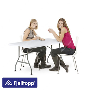 Fjelltopp® 6ft 180cm Heavy Duty Folding Trestle Table Portable Camping Events