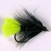 6 Black Gnat Wet Trout Fly Fishing Flies Taille Options par Libellules