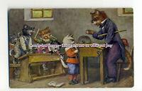 an1014 - Kittens being Naughty in Cat School,  Artist - Arthur Thiele - postcard