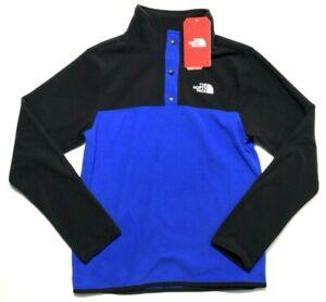 The North Face Kids Glacier 1/4 Snap Fleece Jacket Size Large Blue Boys 14-16