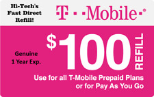 T-MOBILE $100 FASTEST ONLINE REFILL > 25yr USA TRUSTED DEALER <