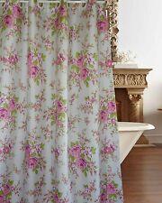 New Generation Elegant Rose Fabric Hookless Shower Curtain Free Shipping