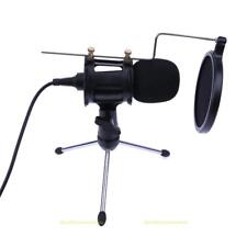 Portable Condenser Mic Microphone Pop Filter Tripod Stand Sound Recording Set