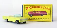 Vintage Lesney Matchbox #39 Pontiac Convertible Regular Wheels NEAR MINT IN BOX