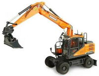 Universal Hobbies 1/50 DOOSAN DX160W Wheeled Excavator Diecast Model UH8134