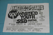 vintage original WASTED YOUTH FLYER Uniform Choice SSD Olympic Auditorium