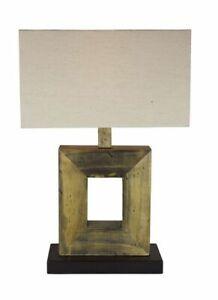 Table Lamp, Desk Lamp, Lamp Fine Art From Old Pallets Wood 52 CM
