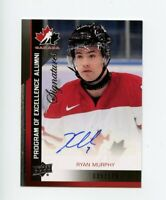 2013 UPPER DECK TEAM CANADA ALUMNI SIGNATURE AUTO RYAN MURPHY 035/175 *68615