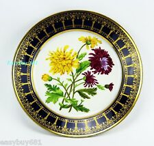 SEVRES DARTE FRERES OLD PARIS CABINET FLOWER PLATE MUSEUM QUALITY NO CHIPS