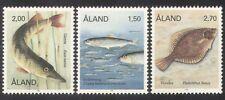 Aland 1990 Pike/Arenque/Flounder/pescado/Marina/Naturaleza/vida salvaje 3 V Set (n39132)