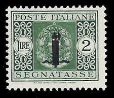 RSI 1944 - 2 Lire SEGNATASSE FASCETTO n. 69 Certificato FERRARIO € 50