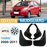 Mud Splash Flap Guard Mudguard Fender For 07-11 Toyota Yaris Hatchback White