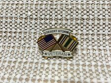 Desert Storm Veteran Flags Hat/Lapel Pin
