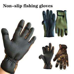 1 Pair Winter Ice Fishing Gloves Winter Outdoor Fishing Waterproof Glove 9H2I