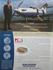 9/2001 PUB AVION PILATUS PC-12 SWISS AIRCRAFT FLUGZEUG AHRENKIEL ORIGINAL AD