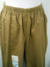 New White Stag Womens Brown Twill Pants Plus 18W  Elastic Waist 2 Front Pockets