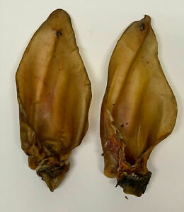 Buffalo Ears with Meat 100% Natural Dog Treat Chew Large 50 Pieces