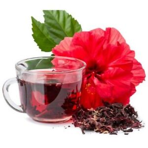 Organic Dried Hibiscus Flowers Whole Loose Herbal Tea Medicinal Use & Hair Grow