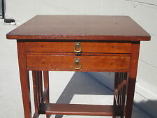 Vintage Antique Oak Table Desk Mission Arts & Crafts Shaker quarter sawn oak