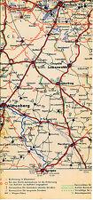 Potsdam Jüterbog Lehnin Beelitz 1937 kl. orig. Teil-Autokarte *Reichsautobahn