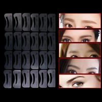 24 Styles Eyebrow Shaping Stencils Grooming Kit Shaper Template Makeup Tool Diy`