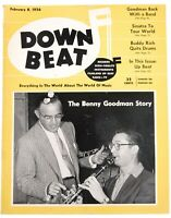 DownBeat February 8 1956 Benny Goodman Story  & Great Ads
