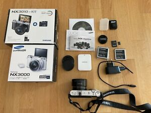 Samsung NX 3000 20.3MP Digitalkamera (Kit mit AF 16-50mm Objektiv) inkl. Blitz