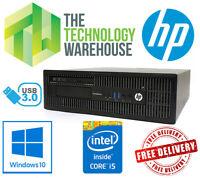 HP EliteDesk 800 G1 PC - Intel i5 Quad Core CPU Up To 16GB Ram Fast SSD Win 10