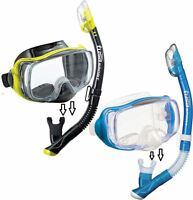 NEW - Tusa Silicone Mask with Purge and Dry Top Snorkel Set - Pro Package