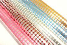💜 1-2 Mtr Baby White Pink Blue Yellow Dot Cellophane Hamper Wrap + Free Ribbon