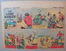 Lone Ranger Sunday Page by Fran Striker and Charles Flanders from 10/4/1942