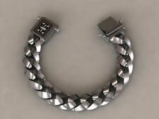 Men's Biker Heavy 200 MM Chain Bracelet In Oxidized 925 Sterling Silver