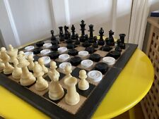 Vintage Chess And Draughtsmen from William Lindop Ltd Draughts Plus Board Set