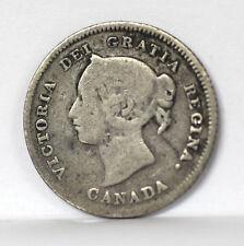 1880 H Canada 5 Cents Silver Km2 Victoria - G #01264088g