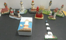 VINTAGE LIGHTHOUSE STATUE LOT OF 15 K'S COLLECTION + SPOONLIQUES