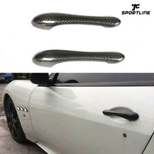 Carbon Fiber Door Handle Cover Trim Fit For Maserati GranTurismo MC GT GTS 08-17