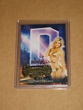 /1 CARLY LAUREN BENCHWARMER HOLLYWOOD LETTER QUAD AUTOGRAPH AUTO TREASURE CHEST