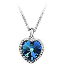 Romantic Blue Crystal Necklaces & Pendants Short Necklace For  Women Necklace