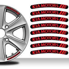 8 KIA MOTORS FELGENRANDAUFKLEBER AUFKLEBER AUTO EMBLEM CAR RIM STICKERS C56