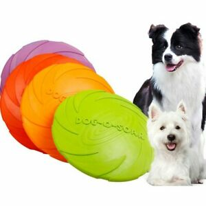 Flying Saucer Dog Toy Funny Silicone Dog Cat Game Chew Resistant Flying Discs