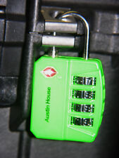 6 Green Big Shackle 4 dial combination TSA Luggage case lock fits Pelican ™ case