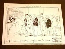 Pubblicità d'Epoca dei primi del '900 Penne Penna stilografiche Waterman's Ideal