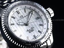 Rare Oceanaut Seven Seas Swiss ETA 2824 Automatic Woven Dial High Polished Watch