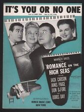 It's You Of No One 1948 Doris Day Romance On The High Seas Sheet Music