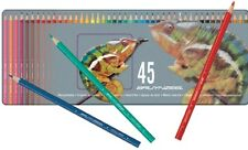 COFFRET METAL  ASSORTIMENT 45 CRAYONS COULEUR BRUYNZEEL QUALITE SUPERIEURE